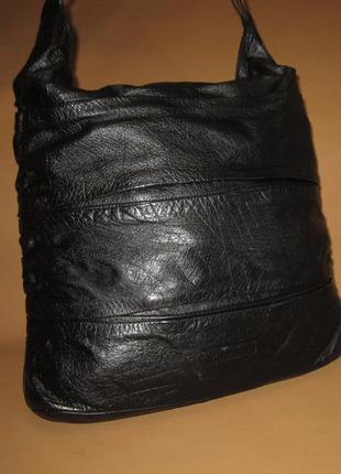 Большая кожаная сумка английского дизайнера john rocha