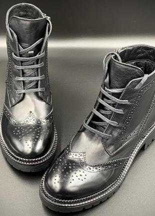 Ботинки кожаные, весна-осень. производство - турция, новинка.