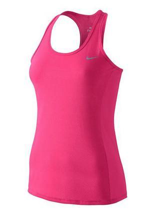 Майка, топ  nike dri fit розовая для фитнеса