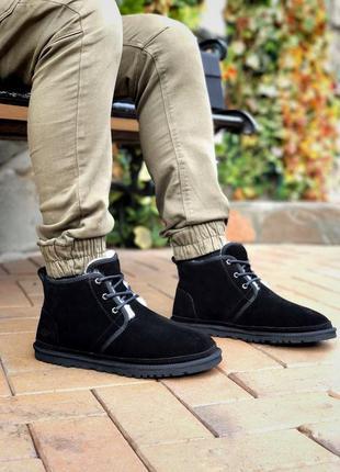 Ugg neumel brown мужские замшевые зимние угги/ сапоги/ ботинки 😍 (на овчине)