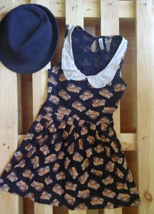Платье в лисичку denim co