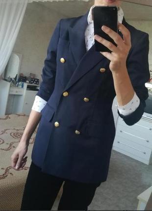 Двубортный пиджак блейзер