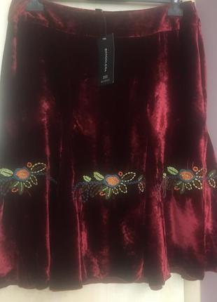 Гламурная юбка-шелковый бархат от bandolera