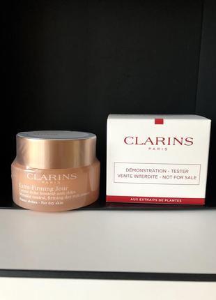 Крем для лица дневной  clarins extra-firming jour day rich cream for dry skin
