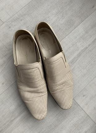 Туфли беж крем перфорация