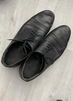 Утеплённые туфли кожа