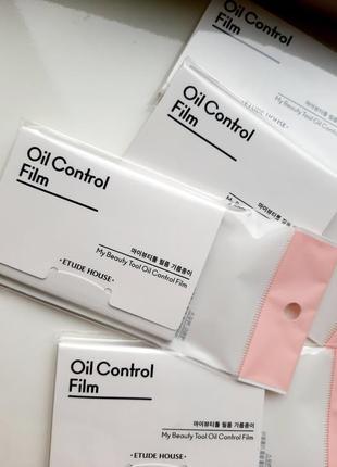 Etude house my beauty tool oil control film матирующие салфетки для лица