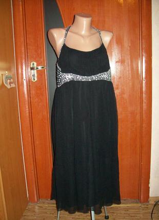 !роскошое легкое летящее платье-сарафан 100%шелк от бренда rocha john rocha