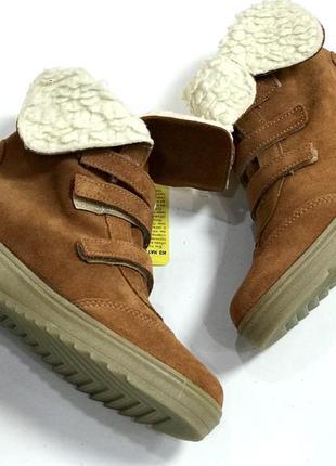 Замшевые зимние ботиночки котофей