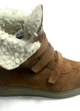 Замшевые зимние ботиночки котофей6 фото