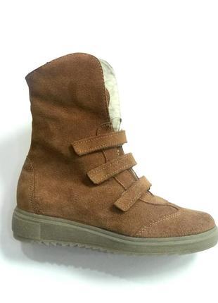 Замшевые зимние ботиночки котофей8 фото