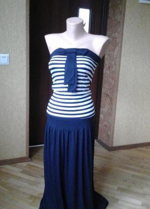 Платье  летнее морская тиматика