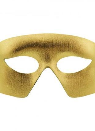 Карнавальная маска мистер х золотистого цвета