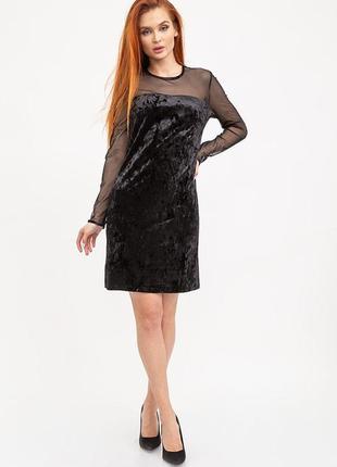 Облегающее вечернее платье чёрного цвета