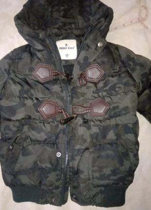 Зимняя курточка на мальчика 2 года, ростом 92 см.