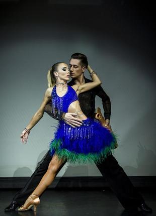 Платье латина  для бальных танцев!
