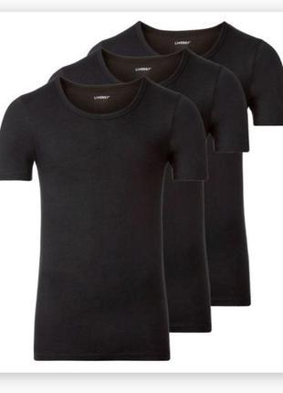 Комплект хлопковых нательных футболок livergy 3 штуки хл