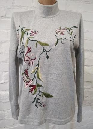 Красивая брендовая кофточка с вышивкой only, р. xs, см. замеры