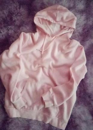 Идеальное очень нежное розовое худи оверсайз