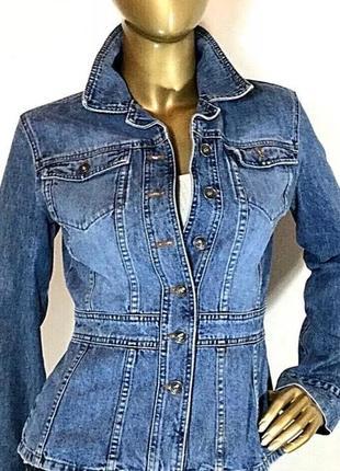 Дизайнерская джинсовая куртка