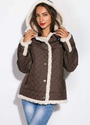 Куртка женская с меховой оборкой