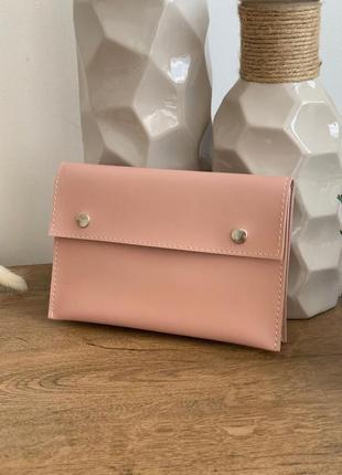 Поясная сумка пудрового цвета