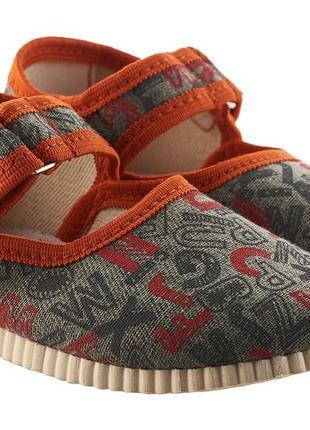 Дитячі текстильні тапочки українського виробника тапочки для сада текстильные