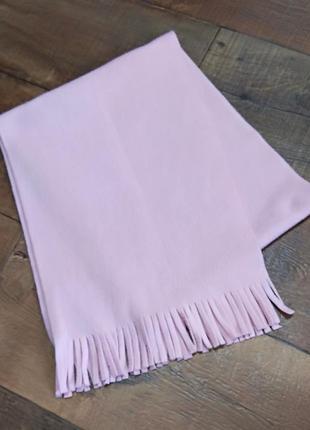Шарф флисовый хомут баф снуд розовый пудровый тёплый женский