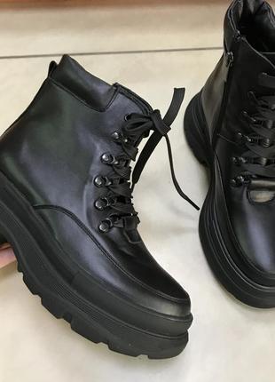 Натуральные кожаные ботинки