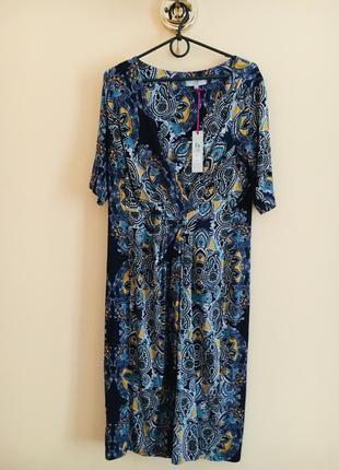 Батал большой размер новое натуральное миди платье платьице плаття