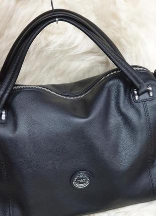Женская кожаная сумка вместительная polina&eiterou