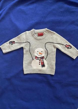 Новогодний свитер star clothing