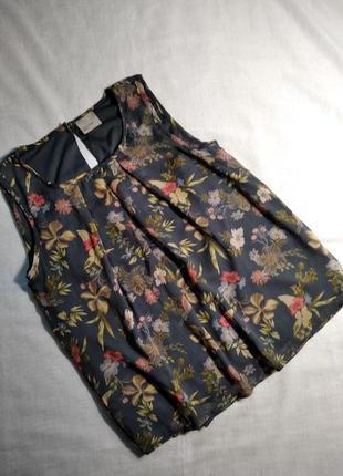 Очень красивая базовая блузка майка на подкладке vero moda