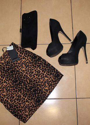 Леопардовая мини-юбка only
