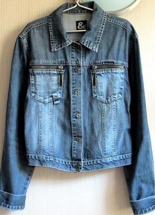 Фирменная джинсовая куртка dolce&gabbana, l/xl