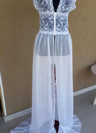 Будуарное платье-халат