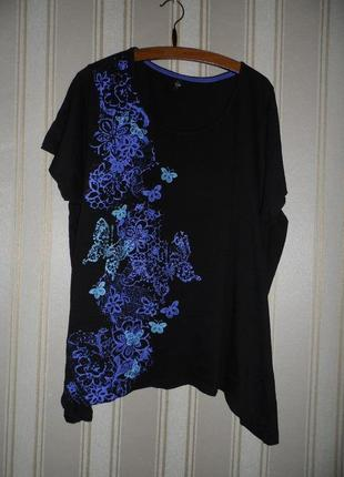 Женская футболка /  большой размер 58-60 // 9xl хлопок
