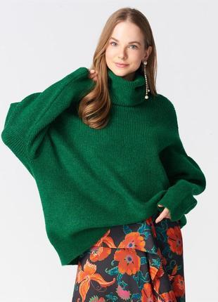 Зелений светр оверсайз dilvin