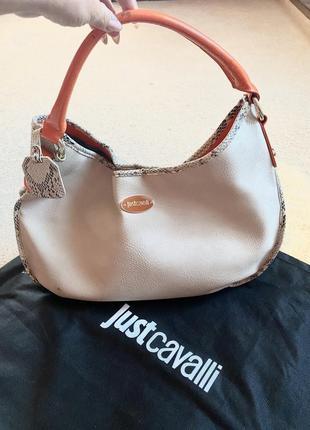 Люксовая сумка мешок just cavalli, италия  большая, вместительная