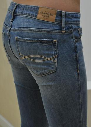 Джинсы голубые потертые abercrombie&fitch оригинал