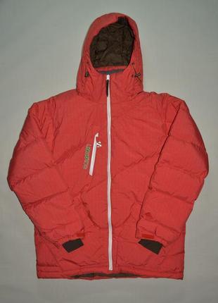 Горнолыжная пуховая куртка salomon clima pro recco