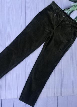 Стильные бархатные зауженные джинсы