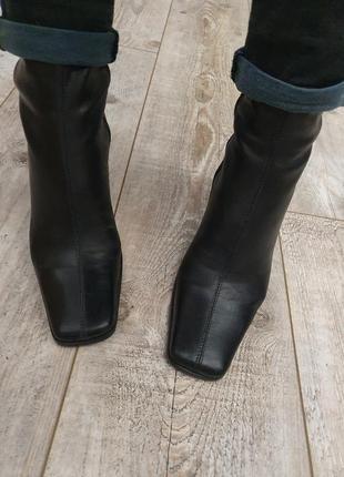 Кожа ботинки ботильоны полусапог 2021