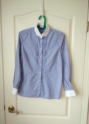 Крутая рубашка с итонским воротником