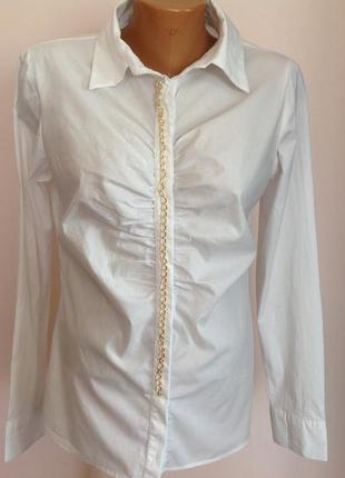 Итальянская рубашка, декорированная цепочкой. / xl/ brend motivi