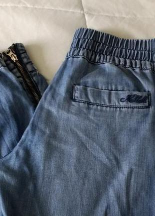 Летние облегченные брюки джинсы на резинках цвета деним killah 29