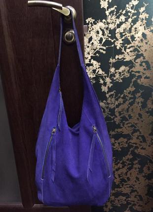 Шикарная большая сумка мешок замша la redoute creation франция