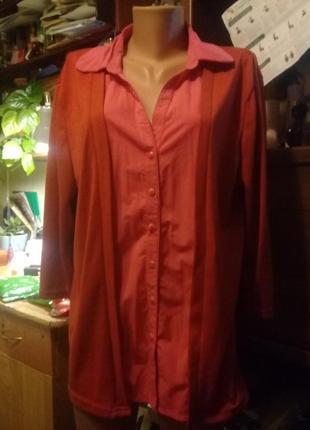 Блузка-кофта большого размера