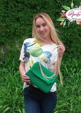 Vipзелёная женская сумка через плечо сумка на цепочке кроссбоди стильная летняя сумка