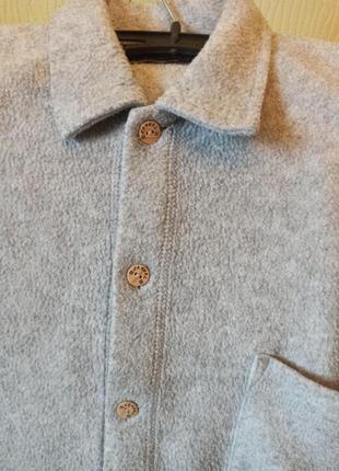 Мужская теплая флисовая рубашка бренда casual на флисе